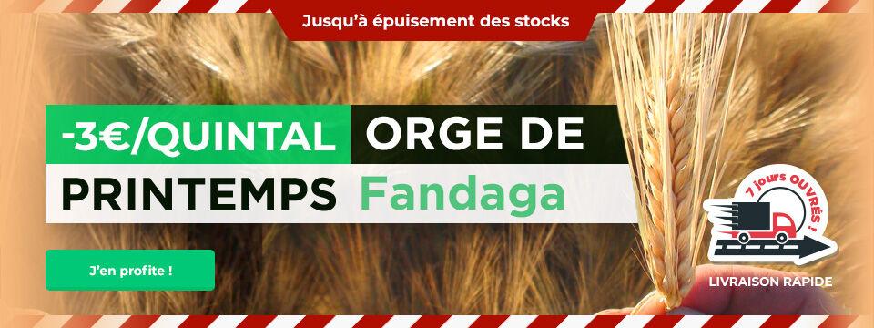 -3€/quintal sur l orge de printemps Brassicole Fandaga