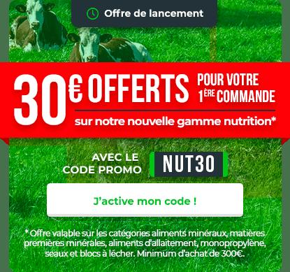 -30€ sur une selection de catégories nutrition animale