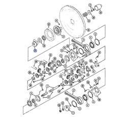 Pallier pour moissonneuse-batteuse CASE IH 191429C2 adaptable