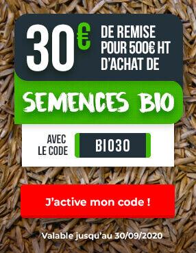 30€ de remise sur vos semences BIO avec le code promo BIO30