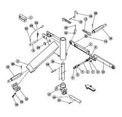 Albero per falciatrice KUHN GMD600GII/ GMD700/ GMD700II/ GMD800GII 56844900 originale