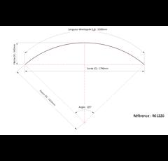 Garde boue pour pulvérisateur DUNLOFLEX 2200x610 R61220 - Vendu par 2
