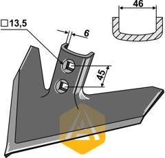 Soc triangulaire pour cultivateur JOHN DEERE N 182041 adaptable - BlackSteel©