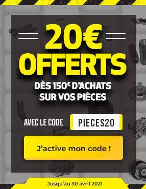 20€ offerts sur vos pièces !