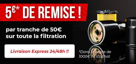 -5€ sur toute la gamme filtration !