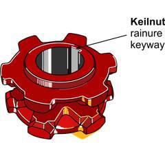 Pignon à chaîne Ø 194 mm pour épandeur BERGMANN 09.480011 adaptable