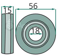 Cuscinetto per pistone presse CASE IH - NEW HOLLAND - JOHN DEERE 165484 - 667925R91 adattabile