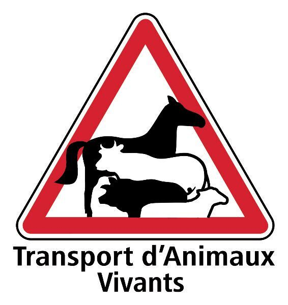 Autocollants Sticker Transport d/'animaux vivants